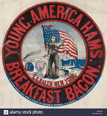 Map Of Usa Showing New York by Young America Hams And Breakfast Bacon E S Baker New York Stock