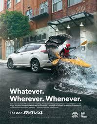 Print Advertisement Idea Design Toyota Adventure Anywhere Ads Of The World Advertisement