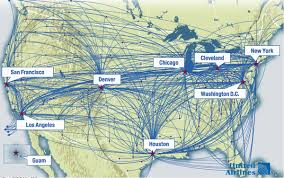 united airlines hubs united continental s usd3 billion deal to yield usd1 2 billion in