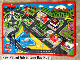 what are all the places in paw patrol adventure bay this rug