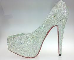 white diamond heels is heel