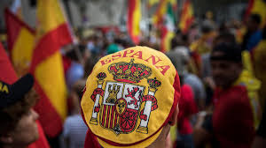 Picture Of Spain Flag Thousands March In Barcelona To Demand A United Spain The National
