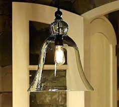 glass bell pendant light clear glass bell pendant lighting clear glass bell shaped pendant