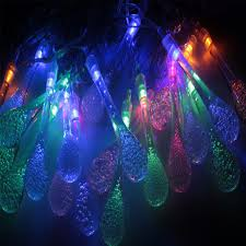 5m 20 led raindrop led lights multicolor outdoor string
