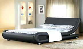 White Leather Bed Frame King Black King Size Bed Icedteafairy Club