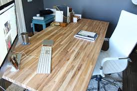 Diy Wood Desk Diy Butcher Block Desk New Furniture