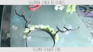 fawn headband diy antlers flowers headband diadema con flores y astas