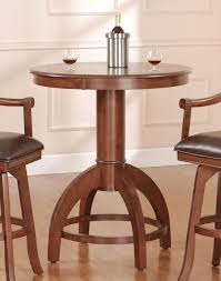 36 round bar height table hillsdale palm springs 36 inch round bar height table in brown