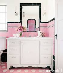 Pink And Black Bathroom Ideas Gray And Pink Bathroom Accessories Pink Bathtub Pink Floor Tile