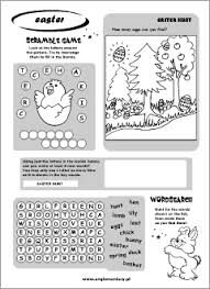 easter printables english for kids
