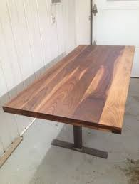 Black Walnut Table Top by Dining Table Reclaimed Black Walnut Table Top With Steel Legs