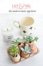 make this modern easter decor with eggs lily u0026 val living