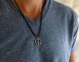 man necklace gift images Men 39 s necklace men 39 s peace necklace men 39 s jpg