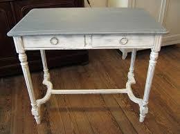 bureau antiquaire petit bureau louis xvi blanc et gris au passe simple