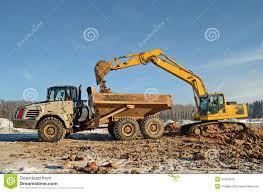 excavator loading dumper royalty free stock images image 37054329