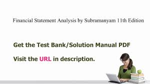 practice test bank for financial statement analysis by subramanyam