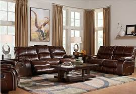 Brown Leather Recliner Sofa Set Furniture Collection