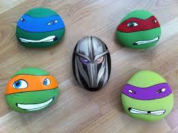 cool easy rock painting patterns teenage mutant ninja turtles