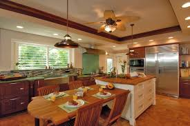 Kitchen Island With Attached Table Hale Aina By The Sea Tropical Kitchen Hawaii By