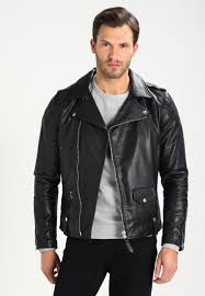 schott nyc enfield leather jacket men clothing jackets black