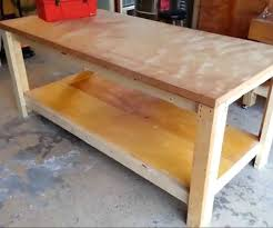 Woodworking Bench Plans Simple by 25 Best Building A Workbench Ideas On Pinterest Diy Garage