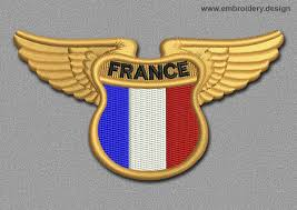 Flag Of Franc Flags Patch Winged Flag Of France