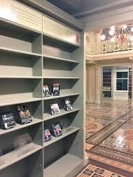the bookshelf where obama used to keep his books during his