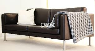 Stockholm Leather Sofa Ikea Stockholm Leather Sofa 3 Str Qatar Living