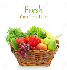fruits and vegetables in the basket stock photo picture and