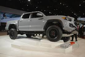 toyota tacoma blacked out toyota tacoma trd pro has svt raptor rivaling looks