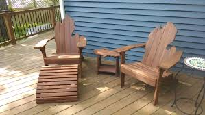 Adarondak Chairs Michigan Adirondack Chairs With Upper Peninsula Side Table And