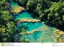 Natural Swimming Pool Semuc Champey Natural Swimming Pools Guatemala Stock Photo
