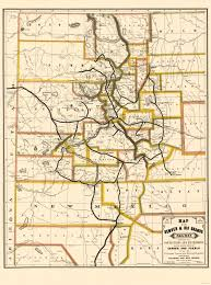 Map Of Denver Colorado by Old Railroad Map Denver And Rio Grande Railway 1872
