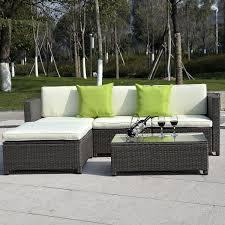 Wicker Patio Furniture Ebay - costway 5pc outdoor patio sofa set sectional furniture pe wicker