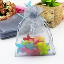 organza gift bags hot sale 100pcs lot gray organza bags 7x9cm small party wedding