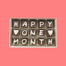 one month anniversary gift happy 1 month cubic chocolate