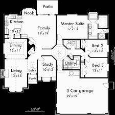 Empty Nest Floor Plans Single Level House Plans Empty Nester House Plans House Plans