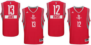 nba unveils 2014 jerseys rockets edition included the