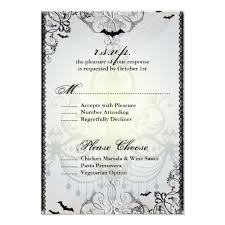 Response Card Wording Halloween Wedding Response Card Wording Divascuisine Com