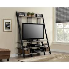 Oak Ladder Bookcase by Ameriwood Home Dunnington Ladder Style Home Entertainment Center