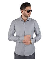 grey french cuff tailored slim fit dress shirt azar suits