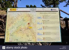 Canary Islands Map La Palma Canary Islands La Cumbrecita Mountain Ridge National