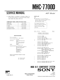 sony mhc7700d service manual immediate download