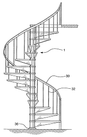 Spiral Staircase by Patent Us20070000191 Spiral Staircase Kit Google Patents