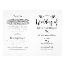 wedding ceremony bulletin template wedding programs zazzle