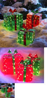indoor lighted gift boxes yard d cor 156812 3 lighted gift boxes christmas decoration yard