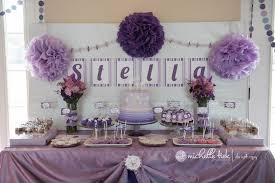 purple polar bear 1st birthday party michelle tiek photography