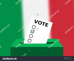 Flag Of Itali Voting Concept Urns Voting National Flag Stock Vector 653545237