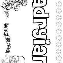 names girls coloring sheets 0 printables create
