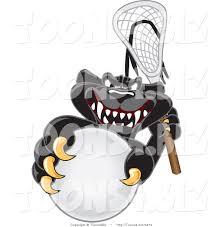 jaguar clipart vector illustration of a cartoon black jaguar mascot playing